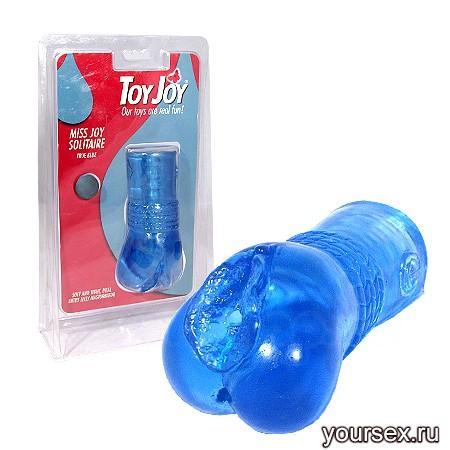 Гелевый мастурбатор Miss Joy Solitaire (Blue)