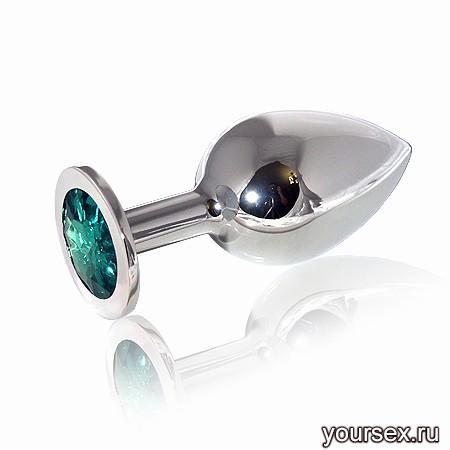 �������� ������ Butt Plug Silver Large Emerald