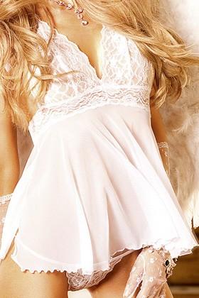 Мини-Платье Angel Белый, OS (42-46)