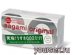 Полиуретановые Презервативы 6 шт. Sagami Original  002