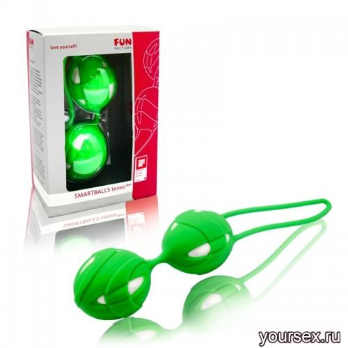 Вагинальные Шарики Smartballs Teneo Duo Fresh green/White