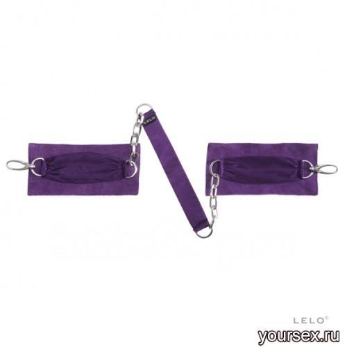 Шелковые наручники с цепочкой Sutra LELO фиолетовые