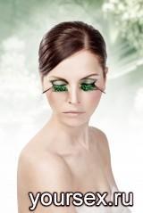 Ресницы-перья Green Galaxy