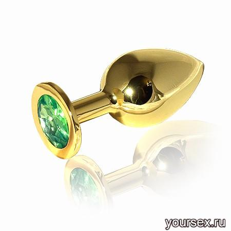 �������� ������ Butt Plug Gold Large Green