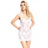 Сорочка и Стринги Soft Line Mia, размер S/M, цвет белый