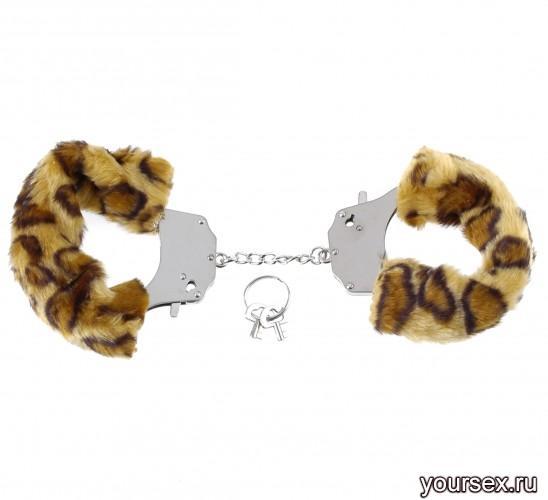 Наручники металлические Furry Love Cuffs с мехом Гепард