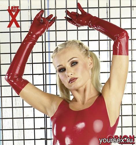 �������� �� ������� Latex Gloves Red