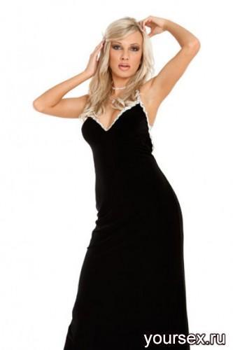 Платье с Открытой Спиной Длинное Coral, ц. Черный, р. S/M