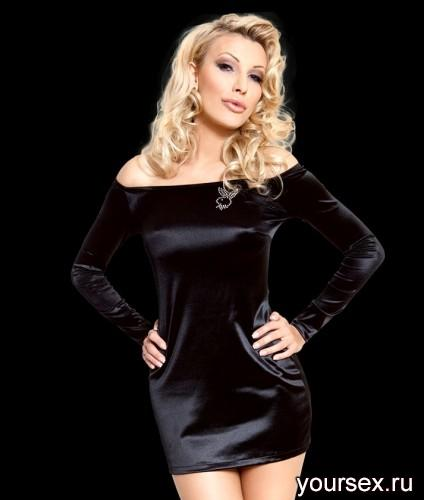 Платье SoftLine Tyler, размер S, цвет черный