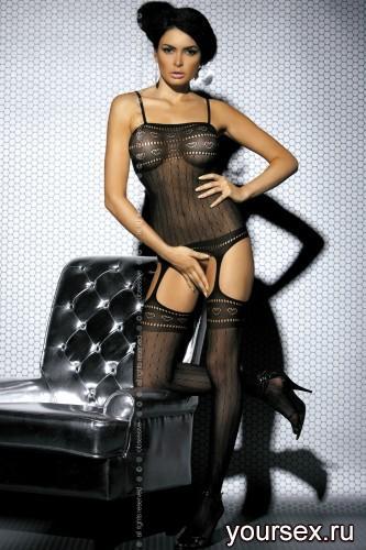 Чулок на тело Obsessive Вodystocking G303, размер S/M, цвет черный