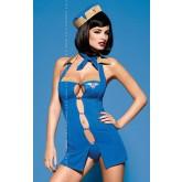 Костюм Стюардессы Obsessive Air Hostess, размер S/M, цвет синий