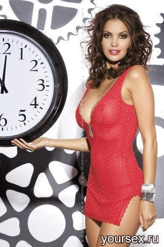 Сорочка и Стринги Obsessive Blasco Chemise, размер L/XL, цвет красный