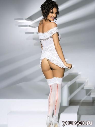 ����� Obsessive Heartdrops Stockings, ������ S/M, ���� �����
