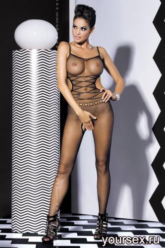 Чулок на тело Obsessive Вodystocking G302, размер S/M, цвет черный