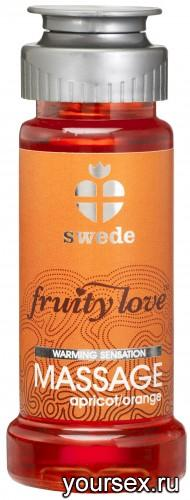 Лосьон для Массажа Swede Fruity Love Massage Apricot/Orange, 50 мл