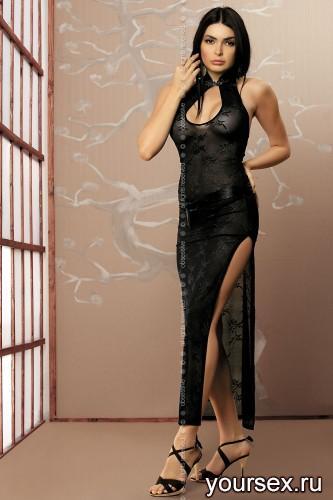 Платье Obsessive Aya, размер S/M, цвет черный