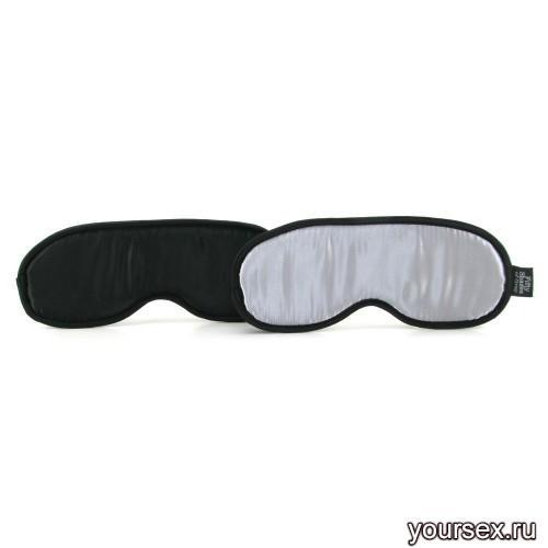Набор из Двух Масок на Глаза Soft Blindfold Twin Pack черный с серым