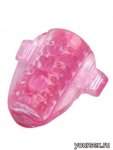 Стимулирующее Кольцо на Язык Tongus с Вибрацией розовое
