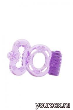 Стимулирующее Кольцо Orgasmus I с Вибрацией фиолетовое