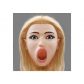 Кукла Kaydens Deep Throat Надувная с Вибрацией со Вставками из Материала CyberSkin®