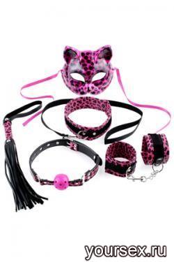 Набор для Бондажа Fetish Fantasy Series Kinky Kitty Kit черный с розовым