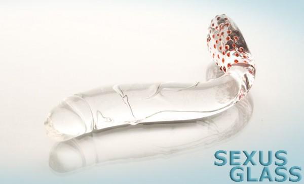 Фаллоимитатор Sexus Glass изогнутый - 17.5 см