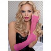 Перчатки Seven til Midnight длинные ажурные HPNK, розовые OS