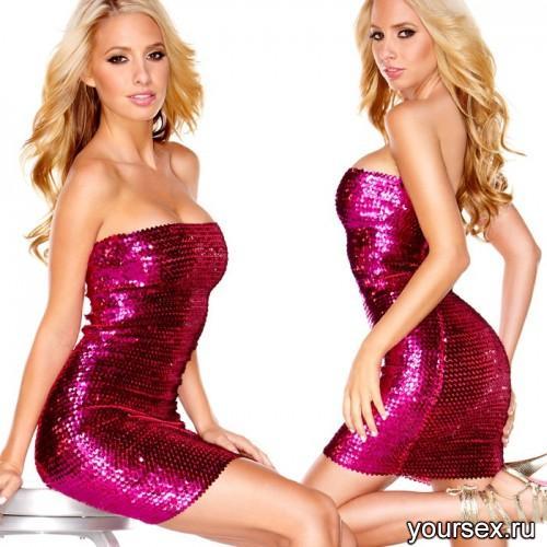 Платье-Бандо Hustler с Пайетками The Sparkling Queen розовое L