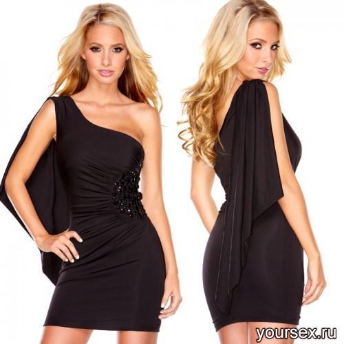 Струящееся Черное Платье Hustler Lucious Black M