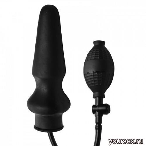 Анальная Пробка с Грушей Master Series Expand X-Large Inflatable Anal Plug, черный