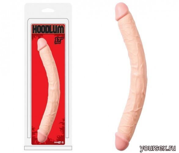 Фаллоимитатор Двойной Hoodlum 43 см, телесный
