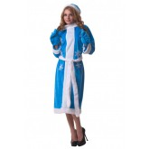 Костюм Le Frivole для Взрослых Снегурочка голубой, OneSize