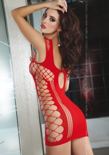 Миниплатье Сетка Livia Corsetti Anshula Red, красное S/L