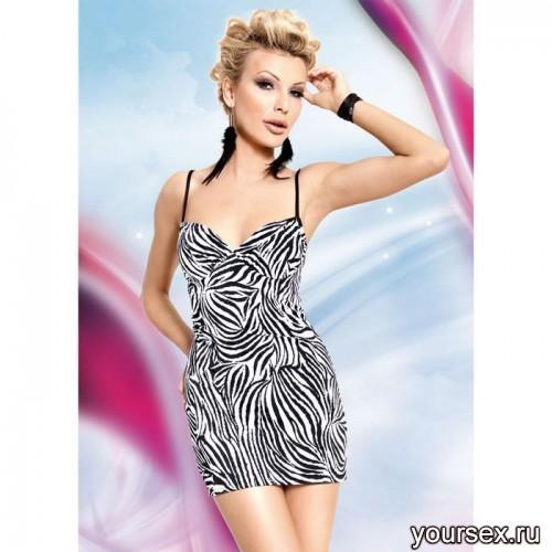 Платье Soft Line со шнуровкой на спине,  черно-белое S/M