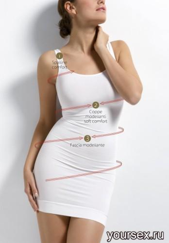 Комбинация Sensi Sottoveste Modellante D5 (Корректирущее белье), размер 2XL, цвет белый