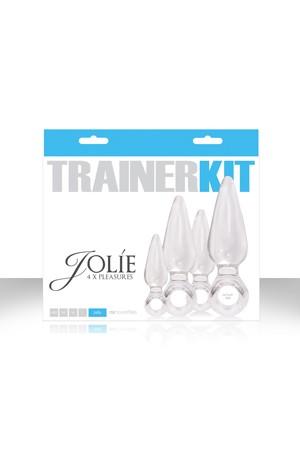 Набор анальных пробок Jolie *4 Trainer Kit прозрачные