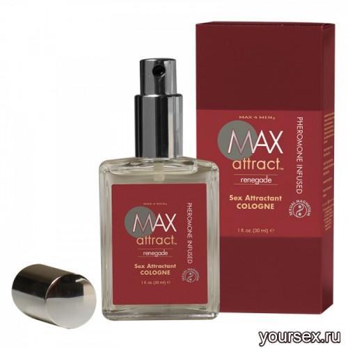 Пряный мужской аромат с феромонами MAX ATTRACT RENEGADE 30 мл