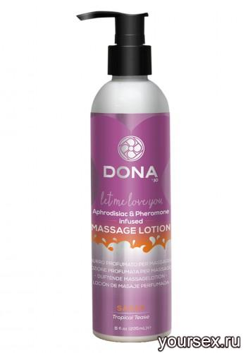 Увлажняющий лосьон для массажа DONA Massage Lotion Sassy Aroma: Tropical Tease 235 мл