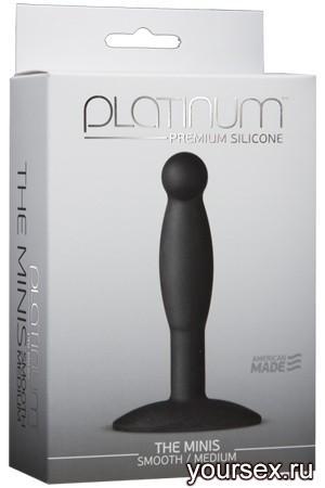 Анальная пробка Platinum Premium Silicone - The Mini's - Smooth Medium - Black M черная