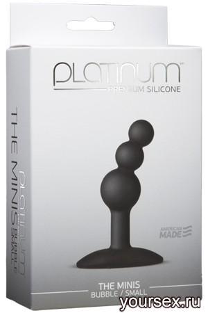 Анальный стимулятор Platinum Premium Silicone - The Mini's Bubble Small - Black S черный