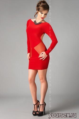 Красное платье Sophie L/XL