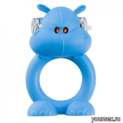 Вибронасадка Beasty Toys Happy Hippo голубая