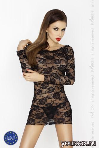 Черное платье и стринги Yolanda L/XL
