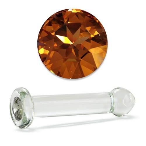 �������� ���������� ���������� Crystal Delight Dildo � ���������� Swarovski - Gold Crystal