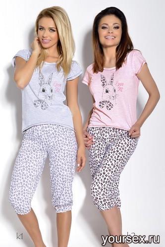 Розовая футболка и бриджи Daga L