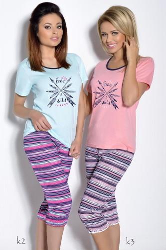Розовая футболка и бриджи Irmina XL