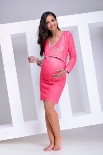 Розовая сорочка для беременных Asia M