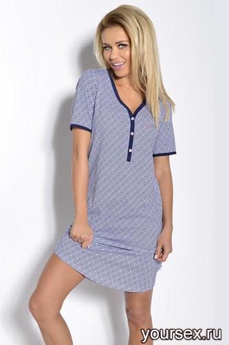 Синяя с белым сорочка Tamara M