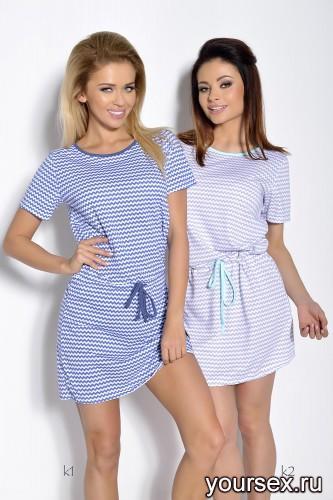 Синяя сорочка Ksara S