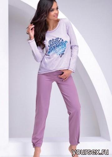 Сиреневая футболка и штаны Oksana M